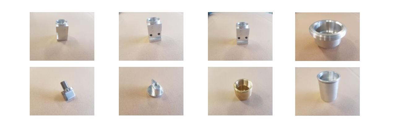Vi erbjuder skärande maskinbearbetning i stål, rostfritt stål, mässing, aluminium och plast.